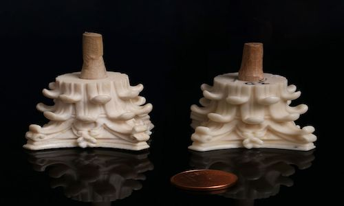 The new material Digory (right), and real ivory.